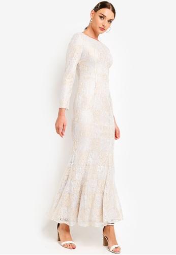 Zalia gold Lace Mermaid Dress 44A4AAAAE138FEGS_1