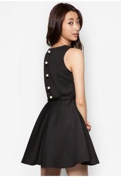 V-Neck Polka Dot Sleeveless Dress