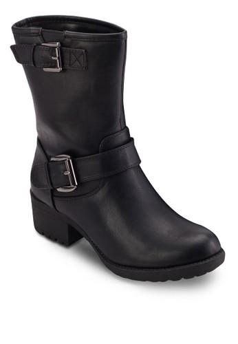 雙扣環粗esprit outlet 香港跟中筒靴, 女鞋, 鞋