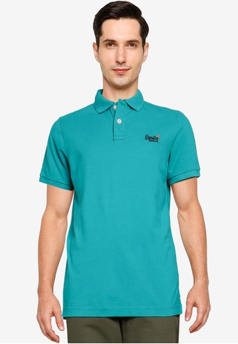 SUPERDRY blue Classic Pique Short Sleeve Polo Shirt 8ACF4AADC69955GS_1
