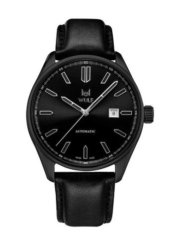 Wulf black Wulf Alpha Black Leather Watch E7758AC839CCD8GS_1