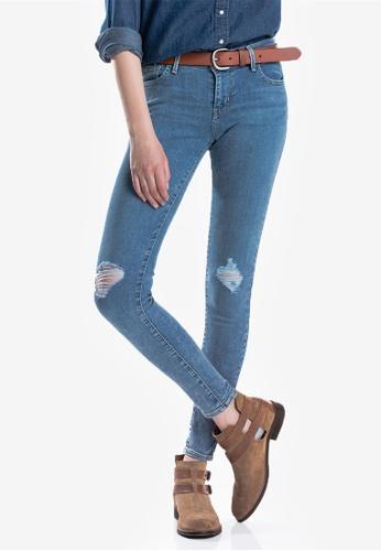 Levi's blue 710 Womens Super Skinny Jeans BE32DAAEBCB95AGS_1