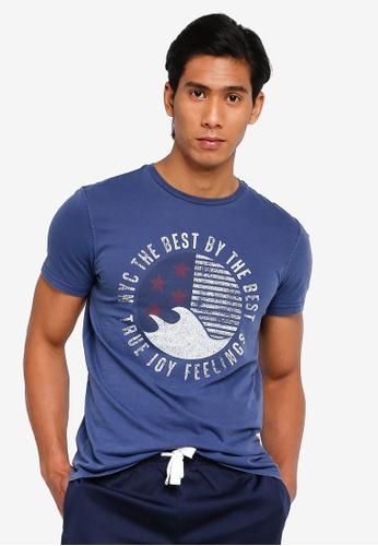 OVS 海軍藍色 休閒T-襯衫 91B67AAC6966B3GS_1