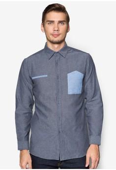 WT-Contrast Pocket Long Sleeve Shirt