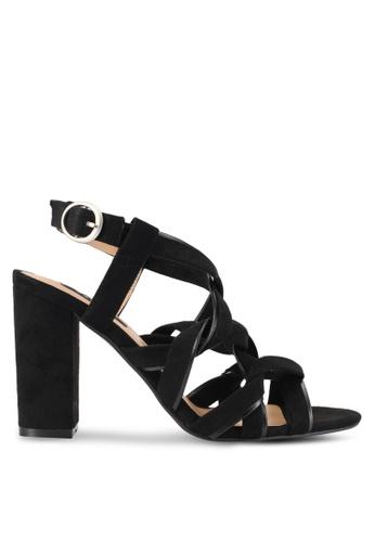 ZALORA black Twist Strap Heels EFB8ESH22606ECGS_1