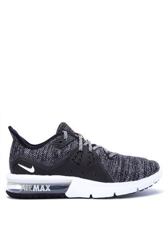 Nike black Women's Nike Air Max Sequent 3 Running Shoes NI126SH0KPVDPH_1