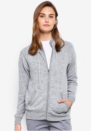 Cotton On Body grey Super Soft Zip Raglan Hoodie AA949AA7939E68GS_1