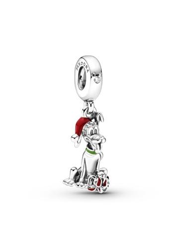 Pandora silver Pandora Disney Pluto Christmas Gift Charm C4D3CAC39A2D7EGS_1