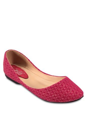 印花圓頭平底鞋, 女鞋esprit專櫃, 鞋