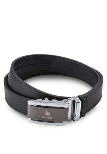 Swiss Polo black Leather Belt SW912AC08ZYLMY_1