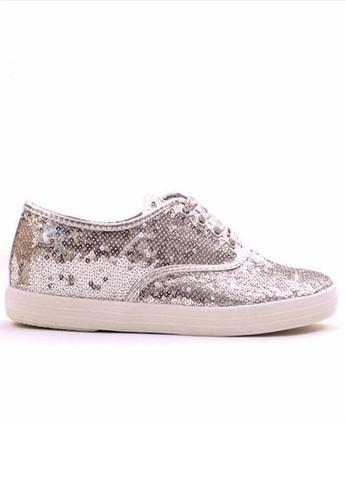 Crystal Korea Fashion silver Korean Sequin Flat Casual Shoes 8D1C2SH37BA18EGS_1
