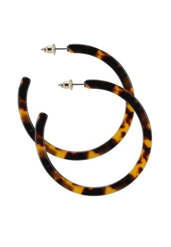 Red's Revenge multi Bella Hoop Resin Earrings C32EDACE27F3EFGS_1