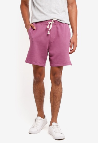 Abercrombie & Fitch 紫色 Beachy Fleece Shorts 0FC9DAA7F91DECGS_1