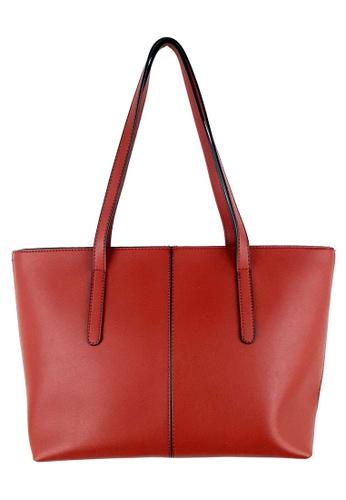 BELLE LIZ red Trendy Dashing Ladies PU Tote Bag Red 0C826AC07B5797GS_1