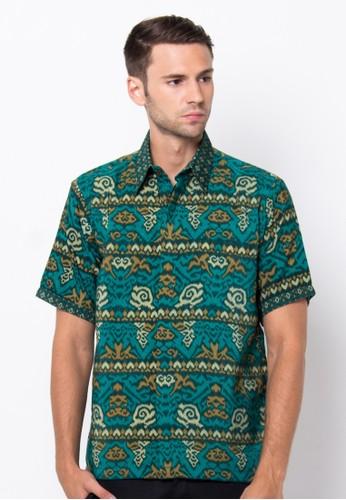 Waskito Hem Batik Semi Sutera - HB 10542 - Green
