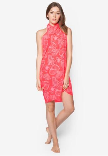 Ohana zalora taiwan 時尚購物網印花沙灘巾, 服飾, 泳裝及沙灘造型