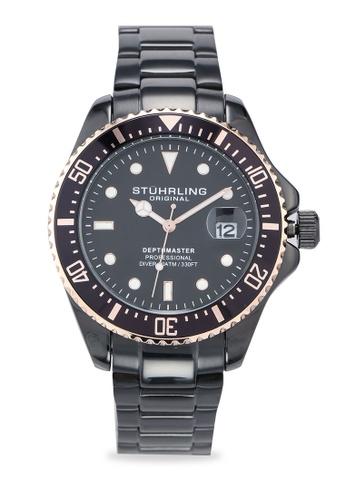 Stuhrling Original black Aquadiver 3950A Watch C6ADDAC704862DGS_1