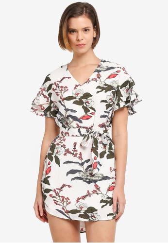 ZALORA white Ruffle Tunic Dress 2C600AAF6BA64DGS_1