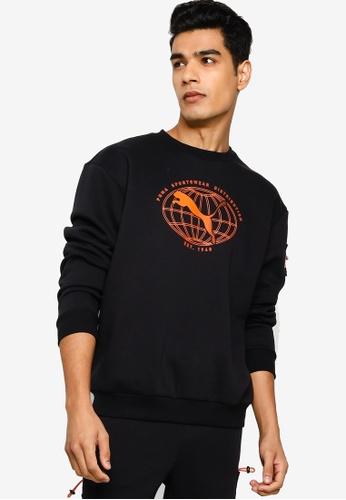 Puma black Puma Sportstyle Prime Interstellar Crew Sweatshirt 84EF1AA4AA3E83GS_1