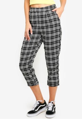 Factorie black Woven Check Pants 97FF1AA55DBD03GS_1