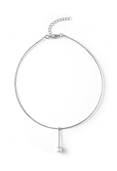 YOUNIQ  YOUNIQ-Basic Korean Pearline Silver Choker
