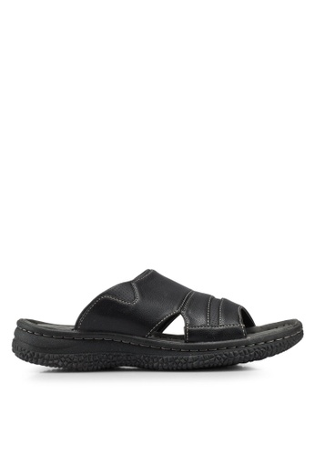 Bata black Slip On Sandals E57EDSH7A86A49GS_1