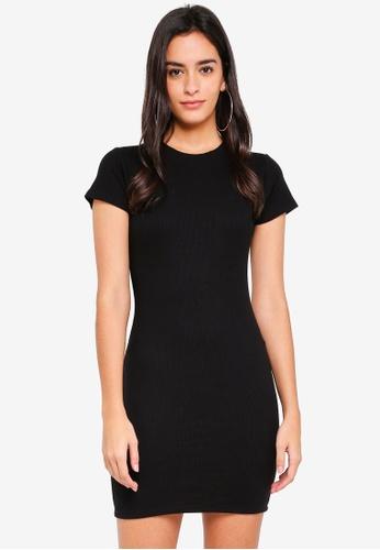 Supre black Rib T-Shirt Dress 0E718AADA7CD25GS_1