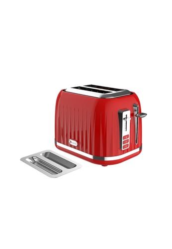 Odette red Odette Jukebox Series 2-Slice Bread Toaster (Red) DFE21HL2300CFEGS_1