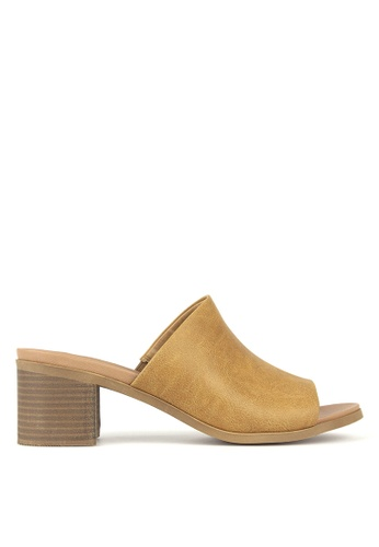 Betts brown Eva Block heeled Mule 6F807SH3A3A4ECGS_1
