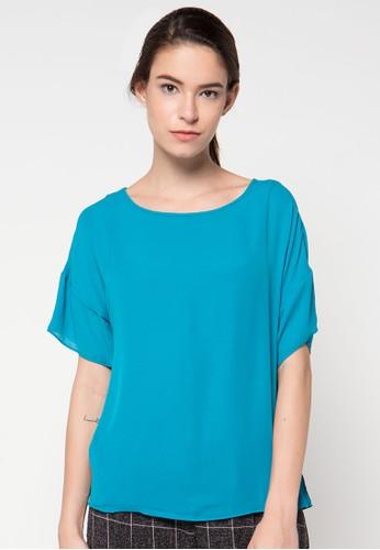 Raspberry blue Marissa Sleeve Blouse RA572AA32DUDID_1