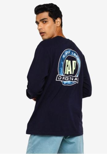 GAP navy Summer Logo Tee F9B1EAA2E94A61GS_1