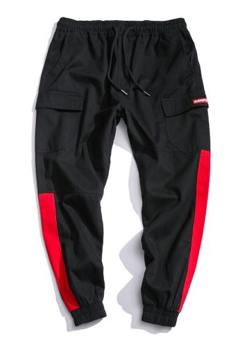 hk-ehunter 黑色 男士寬鬆哈倫褲 7D556AA12E68D0GS_1