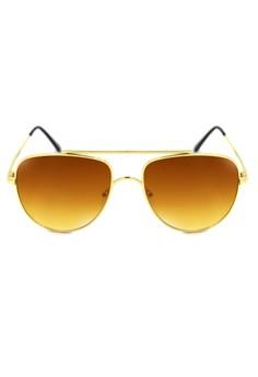 Williams Aviator Textured Brow Bar Sunglasses 8006-7-Y