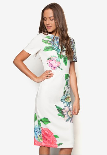 Eden 彩色花卉洋裝, 服飾, zalora 台灣門市洋裝