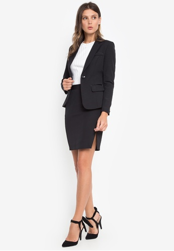 Well Suited black Petite Blazer with Skirt CE019AAD9CFFD4GS_1