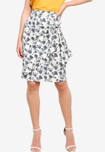 ZALORA WORK multi Fake Wrap Skirt with Tie 51A2EAA22DFED3GS_1