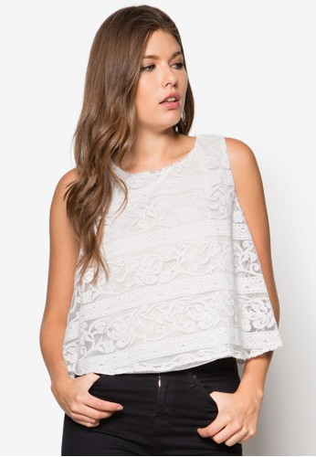 層疊寬擺無袖上衣, 服飾, 上zalora時尚購物網的koumi koumi衣