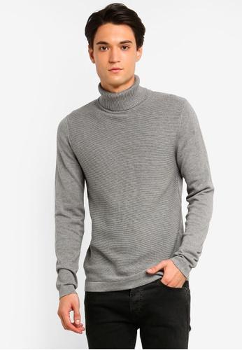 ESPRIT 灰色 長袖針織上衣 C46F6AA81C3538GS_1