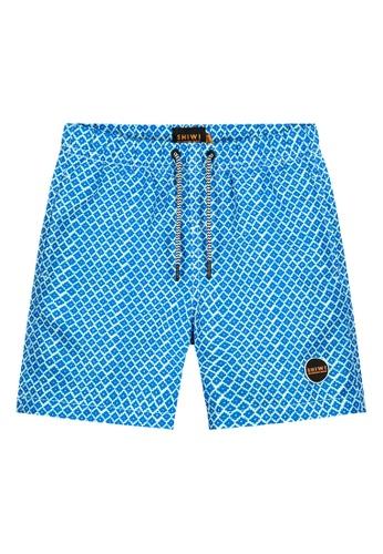 Shiwi blue Boys Printed Swim Shorts 9C68FKA4F00136GS_1