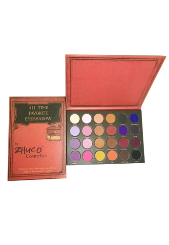 Zhuco Cosmetics black and pink and orange and yellow and green and blue and purple and multi and gold and brown and beige Zhuco All Time Favorite Eyeshadow CDD15BEB71C982GS_1