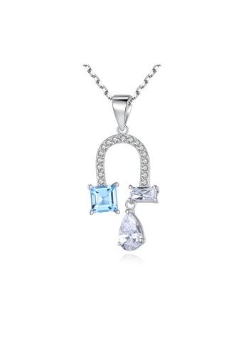 SUNRAIS silver Premium Silver S925 Silver Flower Necklace 66584AC2665044GS_1