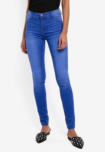 "Dorothy Perkins blue Bright Blue ""Frankie"" Super Skinny Jeans 1BB58AA39A4513GS_1"
