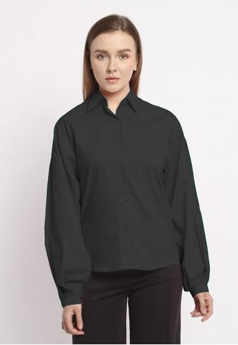 Modemaya black Olive Shirt 368D8AA8EE36FDGS_1