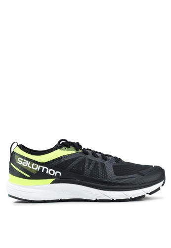 Salomon black and yellow Sonic Ra Max Shoes E97B8SHB295C74GS_1