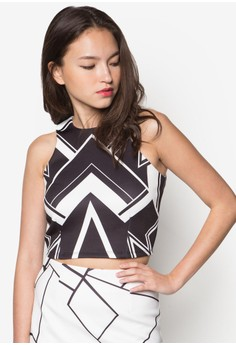 Abstract Printed Crop Top