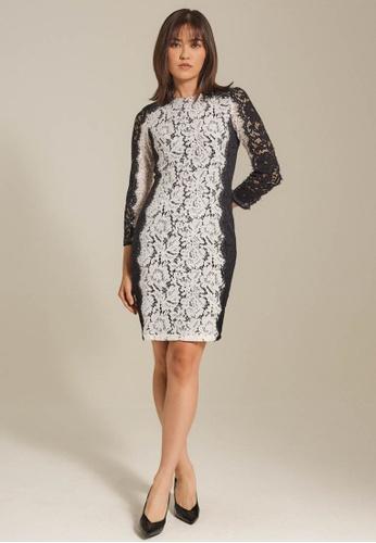 Dressing Paula white Color-Block Corded Lace Dress 02102AA5893E3BGS_1