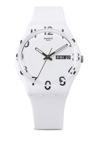 Swatch white Over White Watch 707B6ACF4536C8GS_1