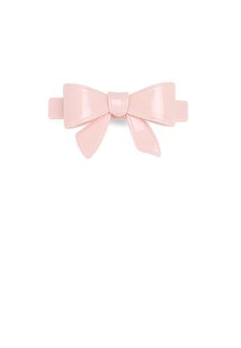 Glamorousky pink Simple and Cute Pink Ribbon Small Hair Slide F23EDACDAA8238GS_1