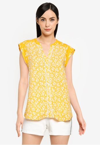 Springfield gold Combined Ditsy Floral Blouse 46AB2AA9B81447GS_1
