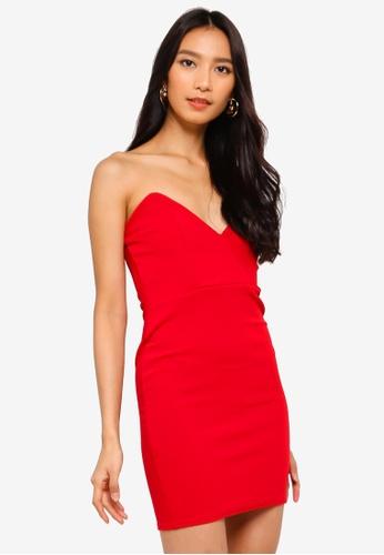 MISSGUIDED 紅色 緊身洋裝 81916AA3A50892GS_1